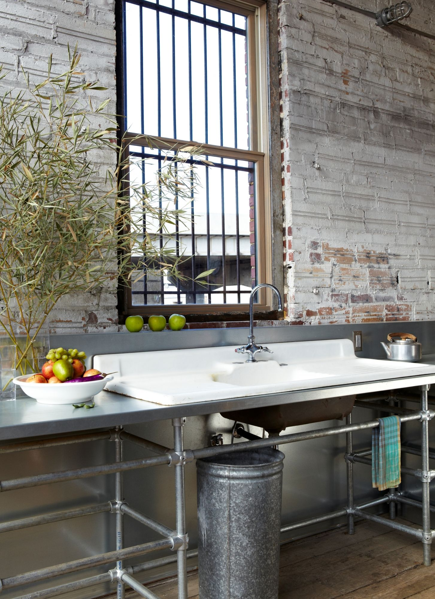 Eclectic Single Line Kitchen, Cabinets, Design Initiative, Llc And Cheryl