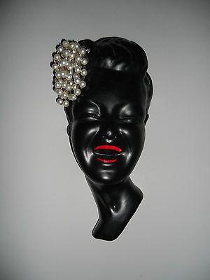 Vintage Art Deco Tretchikoff Style Wall Plaque Ladies Face Ceramic