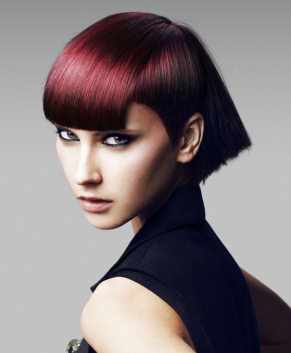 Toni Guy 2012 Great Color Great Hair Coupes De Cheveux Avec Frange Styles De Coiffures Coupe De Cheveux