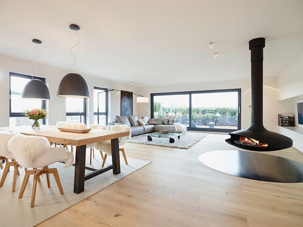 Wohnideen, Interior Design, Einrichtungsideen \ Bilder Salons - innenarchitektur design modern wohnzimmer