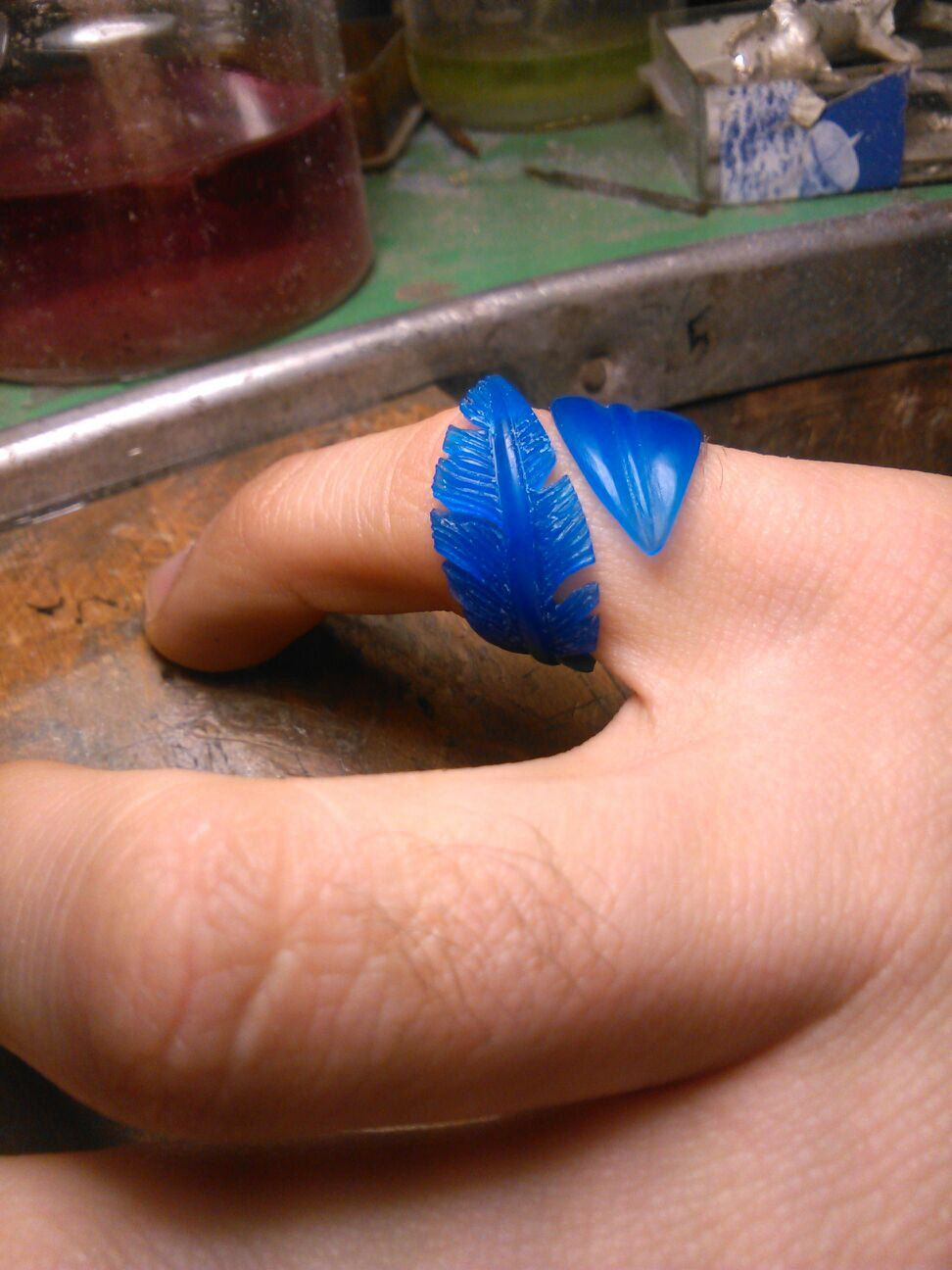 Feathers Ring Hand Made Lost Wax Casting Take Orders NOW by