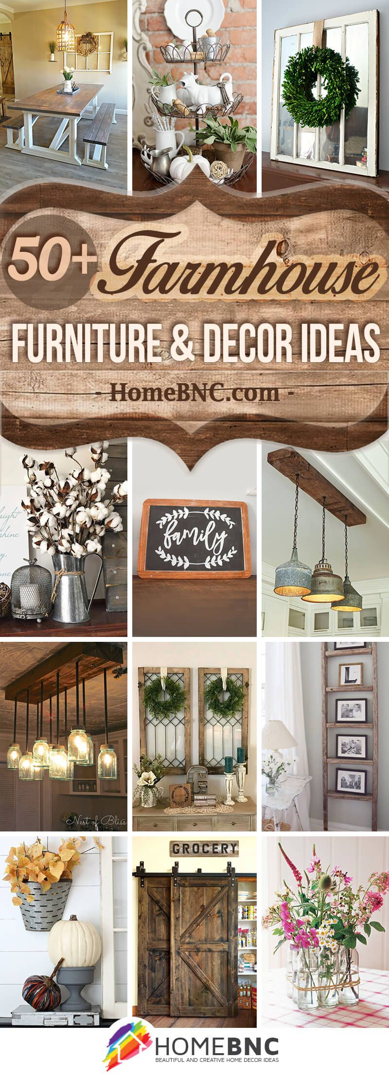 35 Best Rustic Home Decor Ideas And Designs For 2019: 50+ Best Farmhouse Furniture And Decor Ideas And Designs