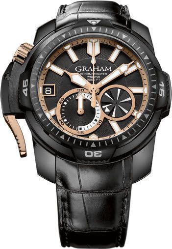 5186d6748ec4 Reloj Graham Chronofighter Prodive Negro Oro Edición Limitada ...