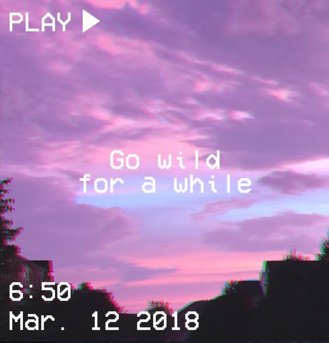 Purple Quotes: M O O N V E I N S 1 0 1 #vhs #aesthetic #sunset #wild
