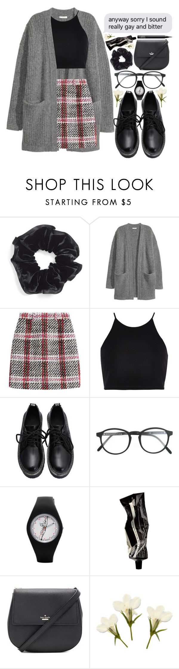 """""""happy national coming out day"""" by smkingtodth ❤ liked on Polyvore featuring L. Erickson, Carven, River Island, RetroSuperFuture, Aesop, Kate Spade and NARS Cosmetics"""