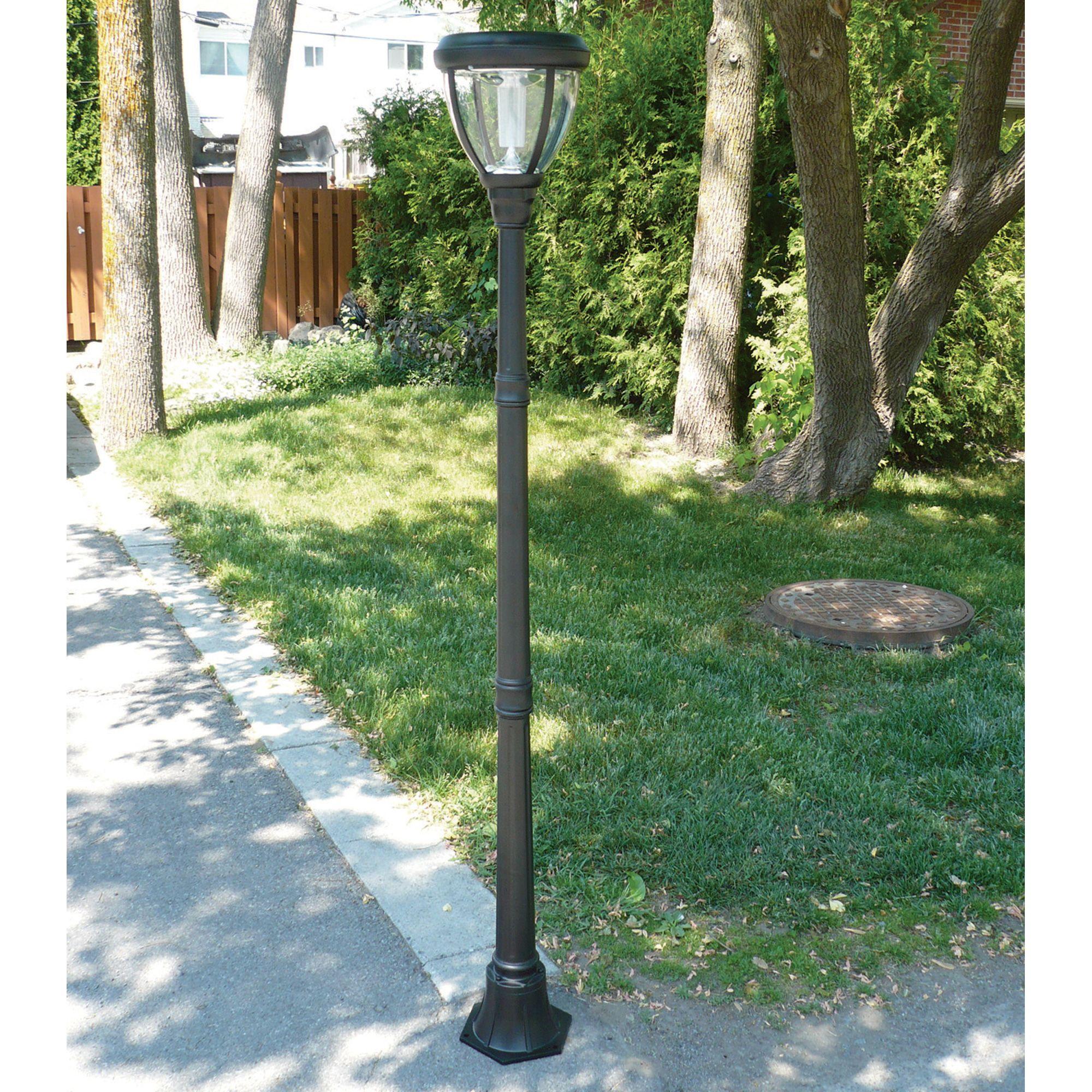 Sunforce Solar Lamp Post With Motion Sensor Solar Lamp