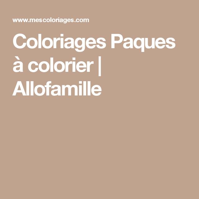 Coloriages Paques à colorier | Allofamille