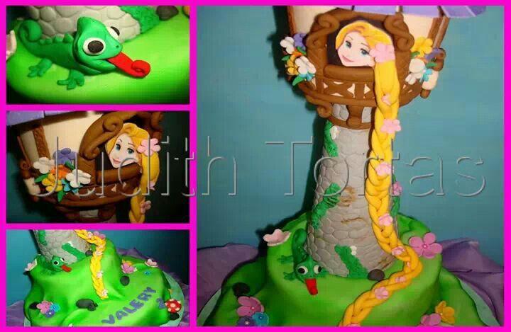 """Torta castillo """"Rapunzel"""" Por: Judith Tortas. Vzla."""