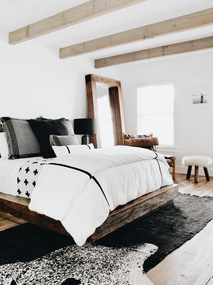 37 Big Bedroom Idea with Farmhouse Design is part of Big bedroom Inspo - Sometimes all you need is a light and airy place to come home to after long hours at work  If white open concept interiors are your weakness, this big bedroom modern farmhouse with transitional interiors is all you need for… Continue Reading →