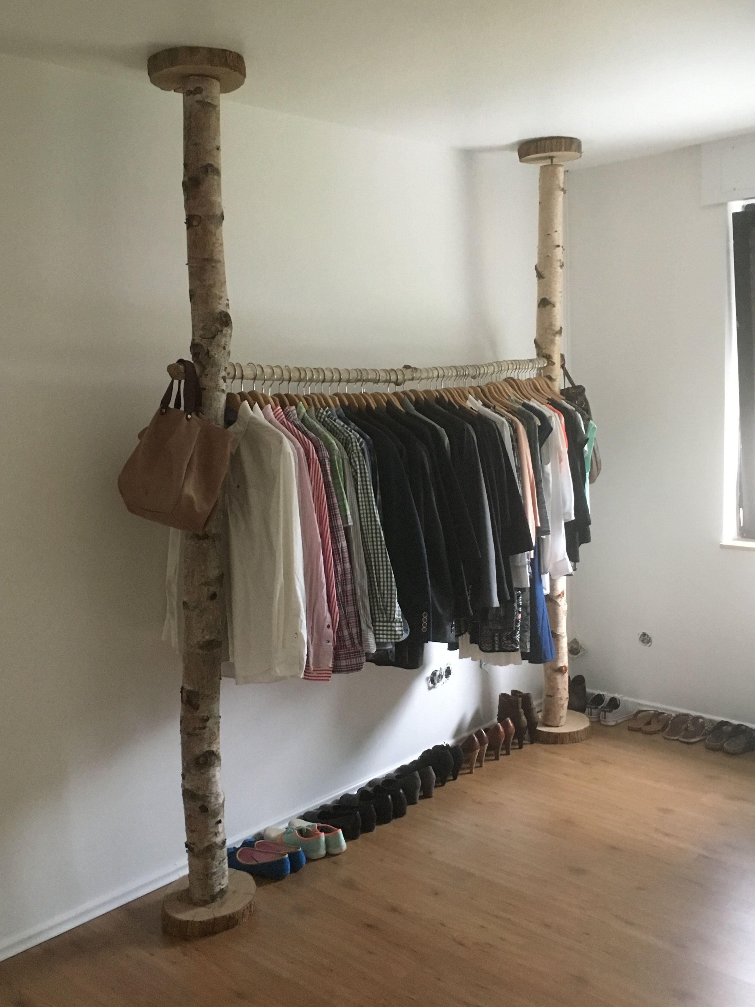 DIY Kleiderstange Birke   Kleiderstange, Diy kleiderstange ...