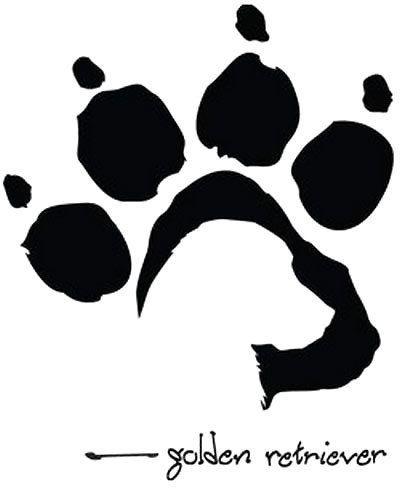 Golden Retriever Dog Paw Tattoo Design Dog Tattoos Dog