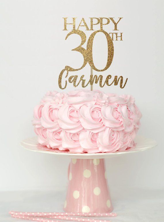 30 And Fabulous Cake Topper Birthday Decorations 30th Decor
