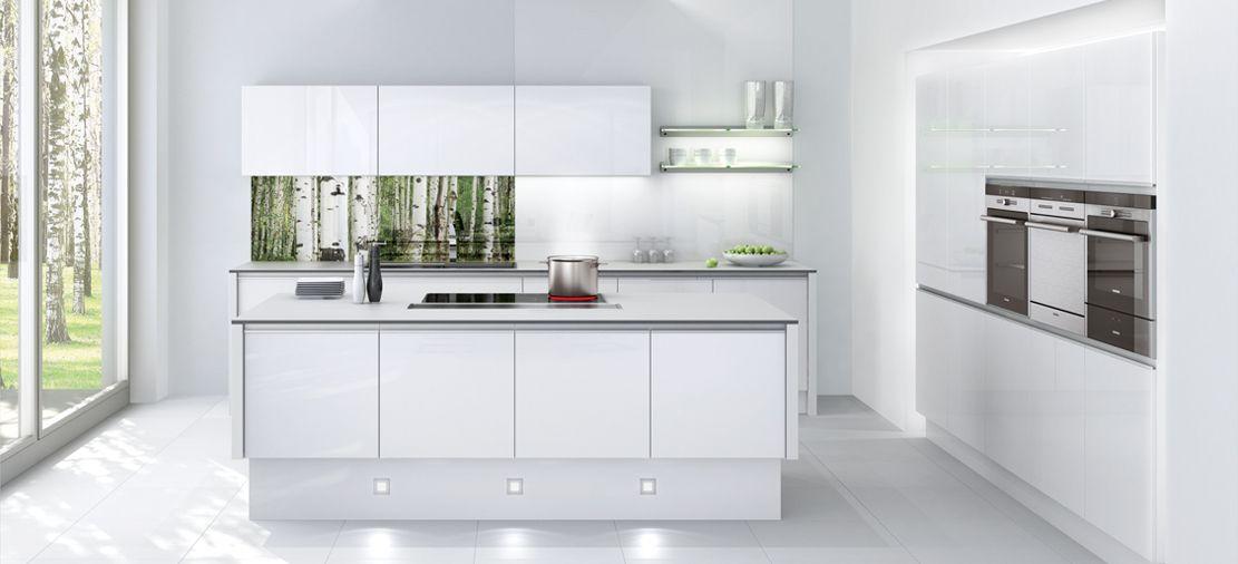 Cocina blanco alto brillo cocinas pinterest cocina for Muebles altos de cocina