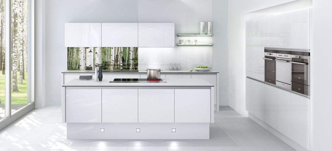 Cocina blanco alto brillo cocinas pinterest cocina - Cocinas en blanco ...