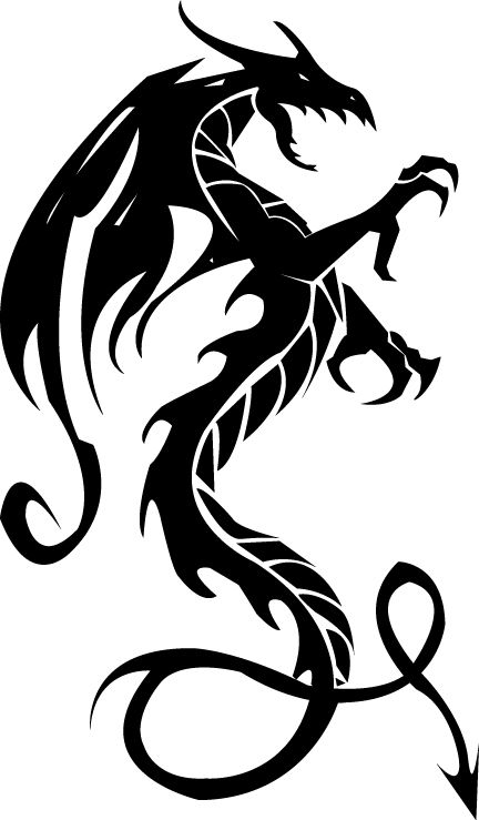 Dragon black. Tattoo images designs clipart