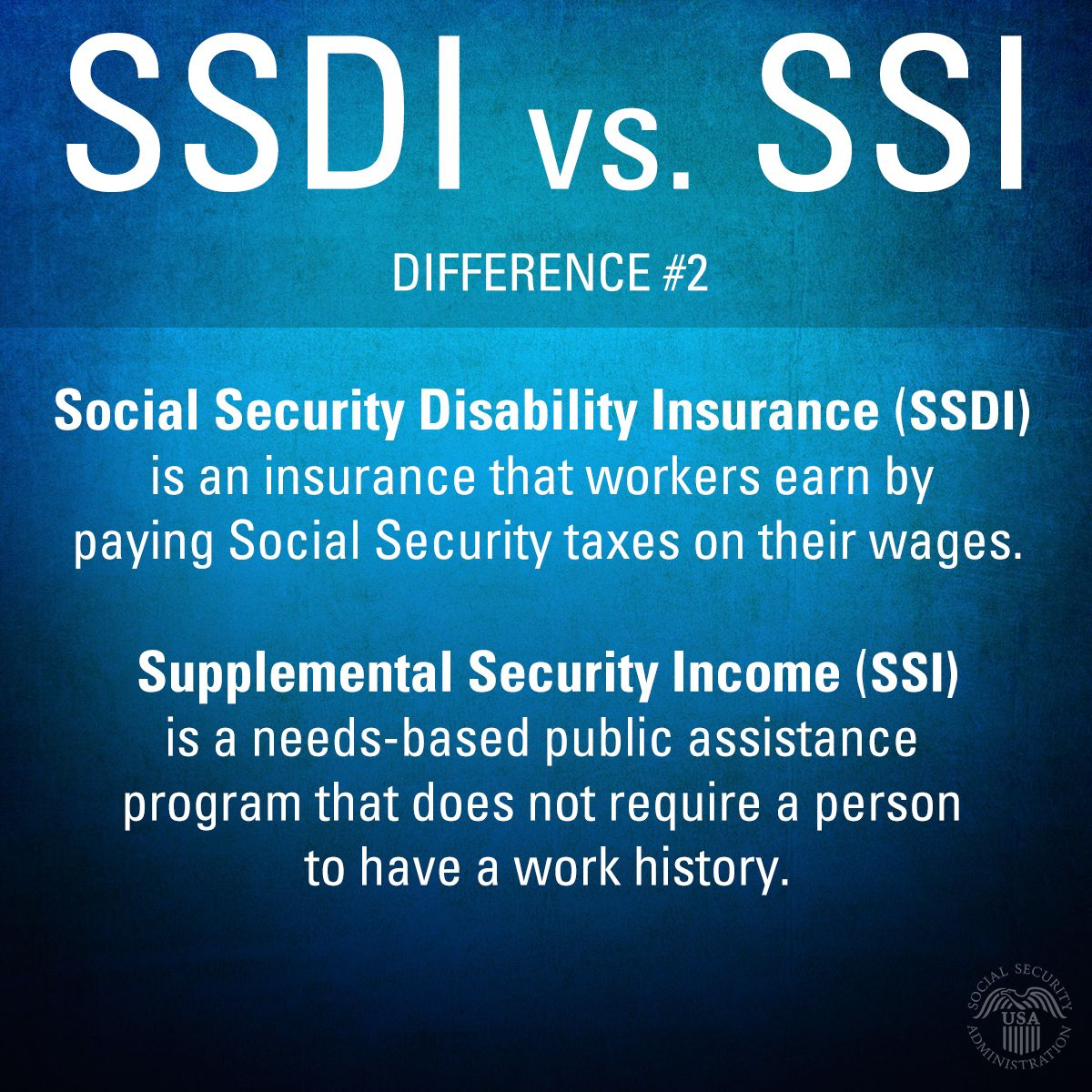 Ssdi Is Earned Paying Socialsecurity Taxes Ssi Is A Needsbased Publica Social Security Disability Health Insurance Benefits Supplemental Security Income