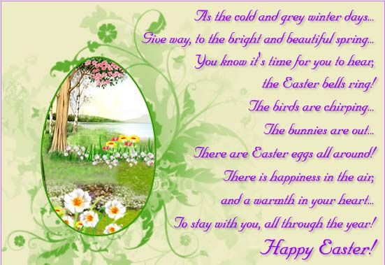 Lovely Easter Poem Easter Quotes Happy Easter Quotes Easter Poems