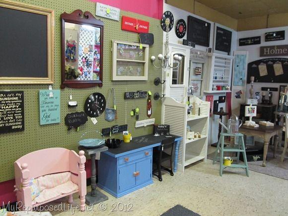 Unique Creations Gift Shop - love the repurposed louvre doors ...
