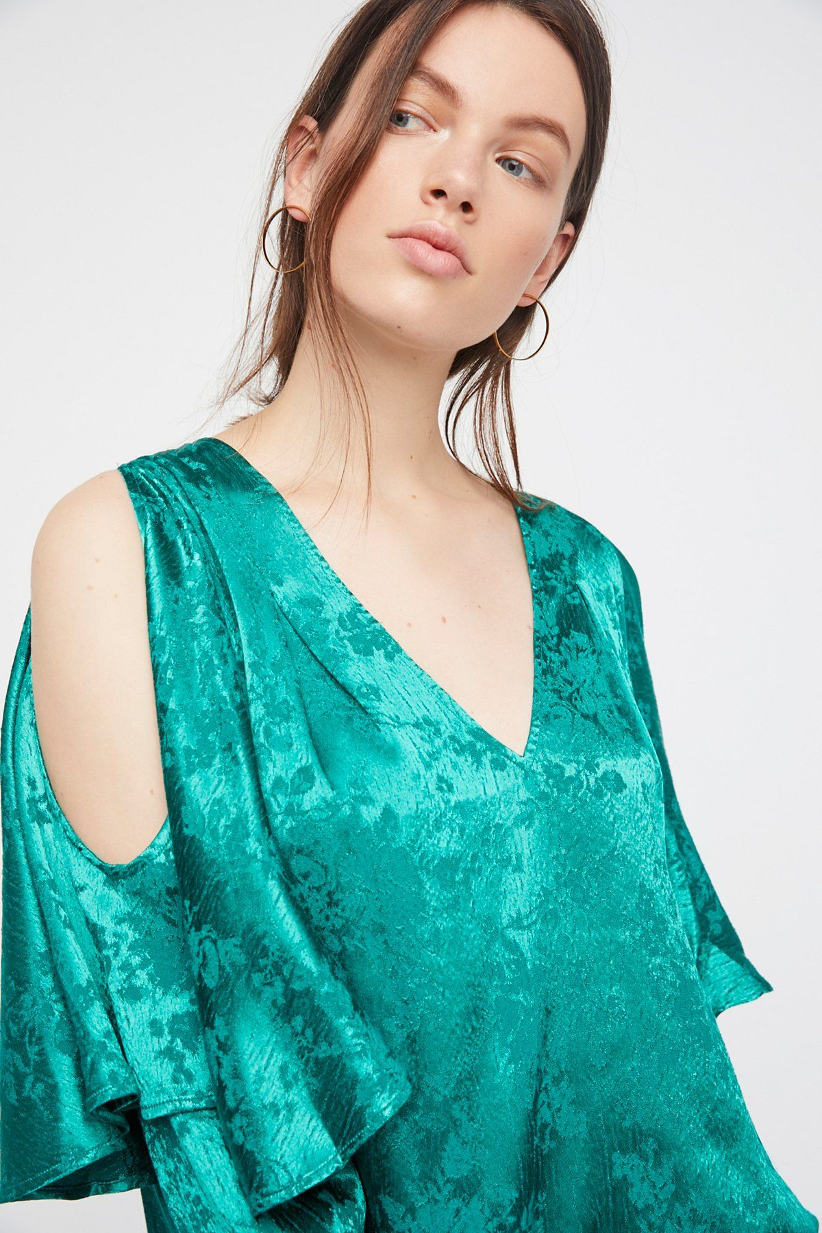 Emerald Another Day Top at Free People Clothing Boutique