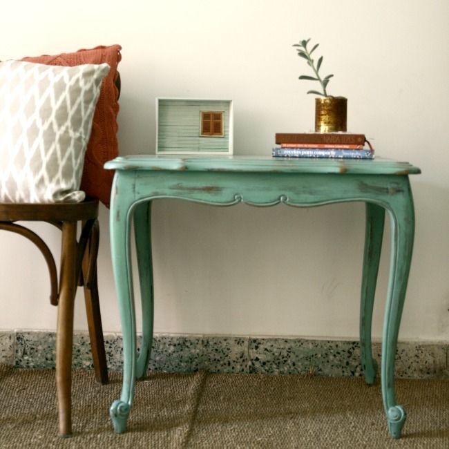 Mesita francesa en muebles - Pintar muebles estilo vintage ...