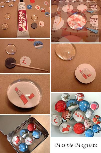 to make: marble magnets