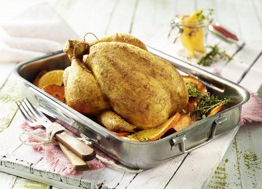 Sommerküche Hähnchen : Buttermilch hähnchen mit grill gewürzbutter und süßkartoffeln
