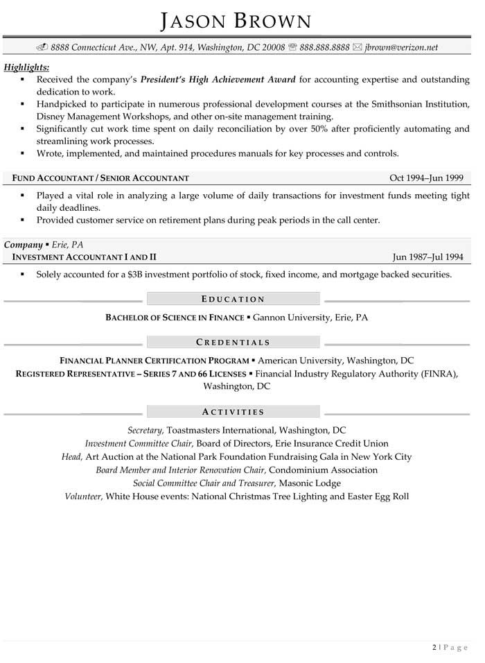 Resume Examples Over 50 Resume examples and Sample resume