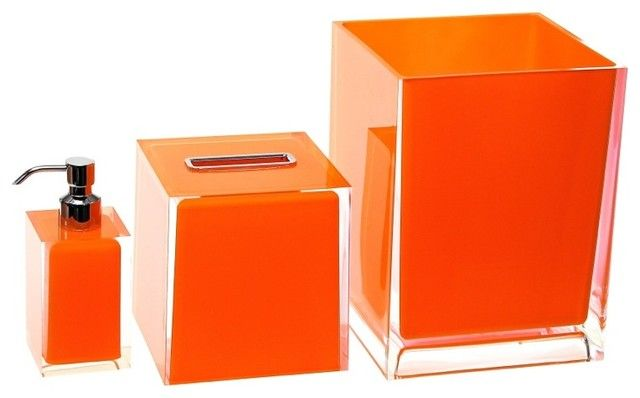 Bathroom Accessories Set Orange