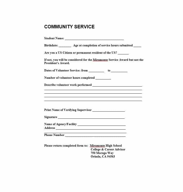 Letters Of Recommendation For Students Community Service Hours