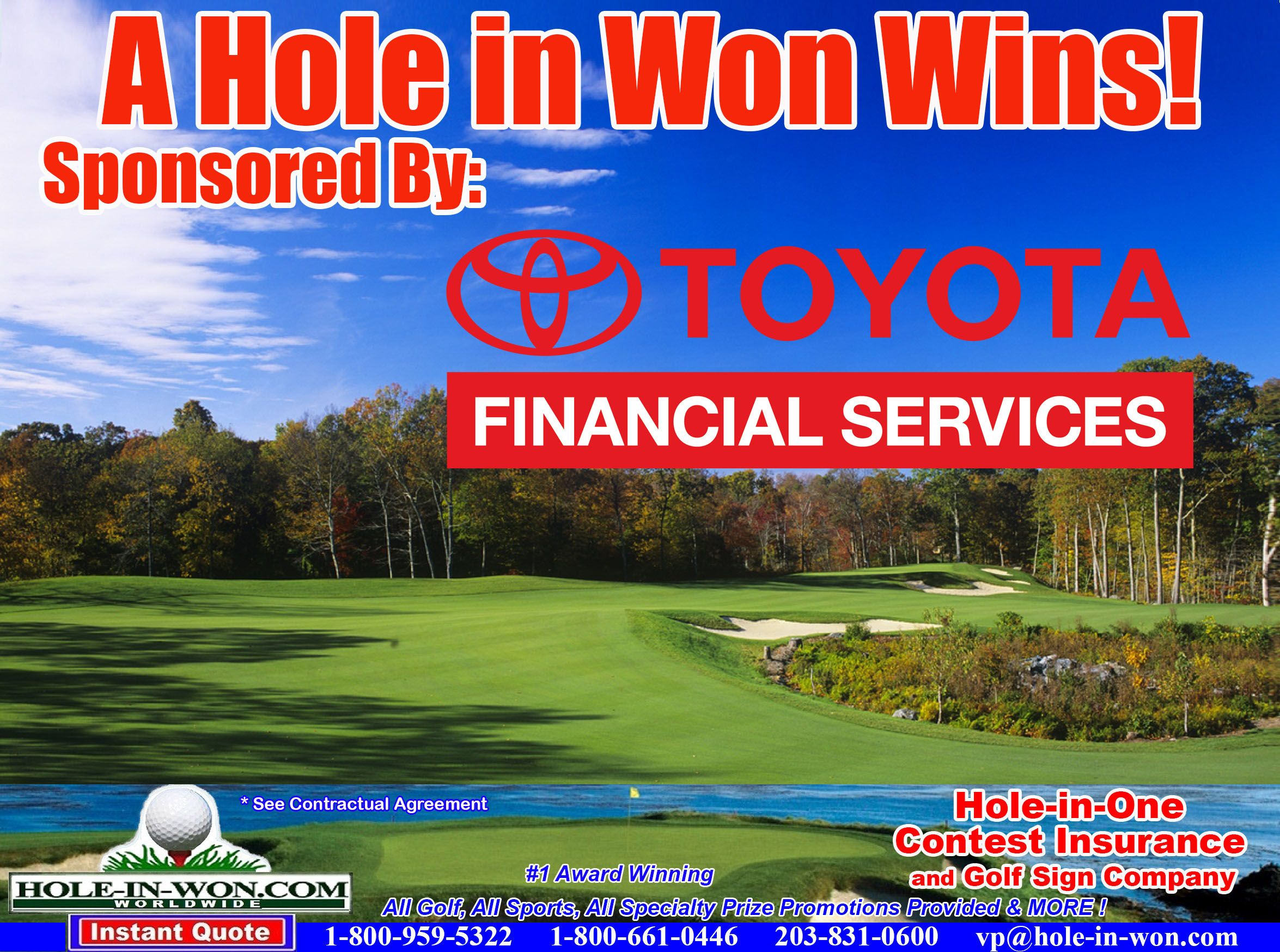 Toyota Hole In One Insurance All Golf Promotions All Sports All