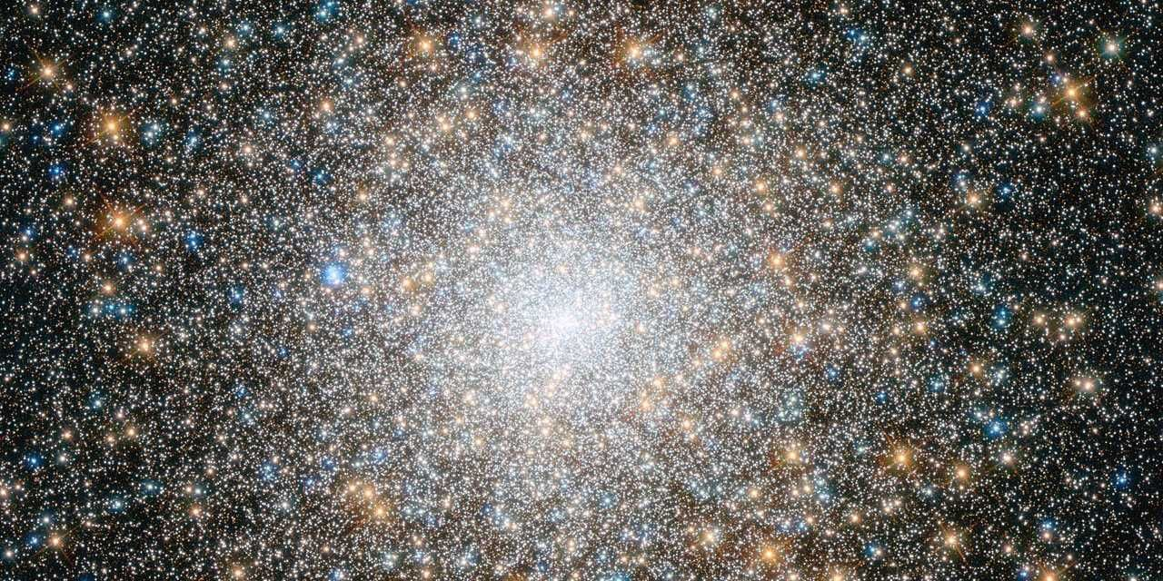 The image below is a stunning close-up look of a mysterious spherical cluster of ancient stars known as the Messier 15 cluster. It's located 35,000 light-years away from us, in the Pegasus constellation, near the center of our Milky Way galaxy. These ancient stars are about 12 billion years old (our universe is more than 13 billion years old).