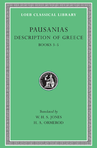 Pausanias, born probably in Lydia in Asia Minor, was a Greek of the 2nd century CE, about 120–180, who traveled widely , filled out with historical accounts and events and digressions on facts and wonders of nature. His chief interest was the monuments of art and architecture, especially the most famous of them;Pausanias, Description of Greece,  Pausanias, Description of Greece, Volume II: Books 3-5 (Laconia, Messenia, Elis 1)   LCL 188