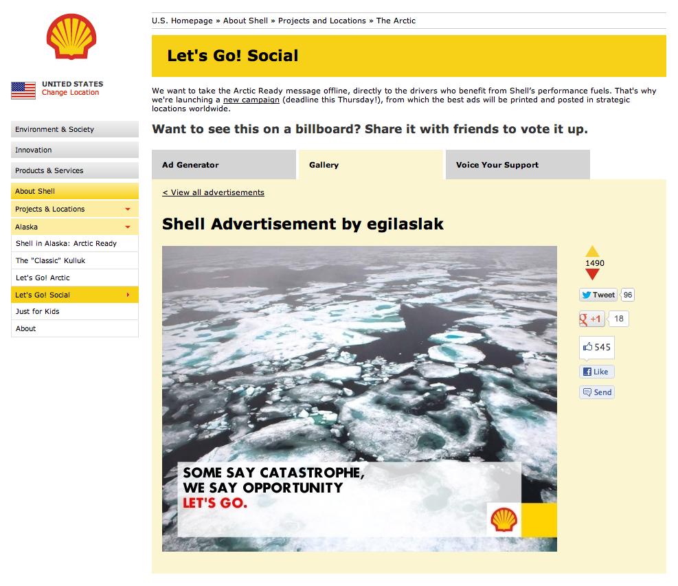 Shell gets trolled by meme generator, Greenpeace turns meme into billboard