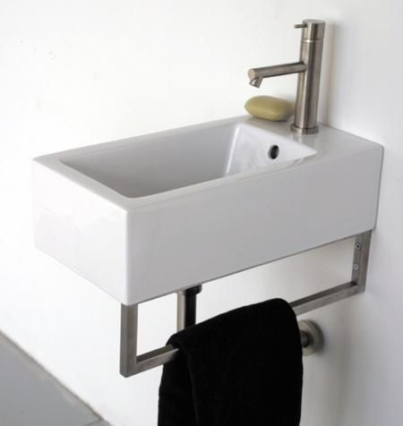 Attractive Resemblance Of Small Wall Mounted Sink: A Good Choice For Space Challenged  Bathroom