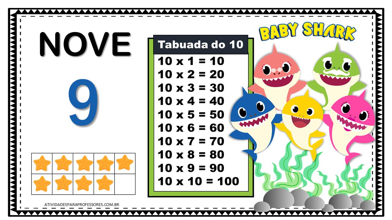 Tabuada De Multiplicacao Com O Baby Shark Em 2020 Tabuada De Multiplicacao Tabuada Tabuada De Multiplicar
