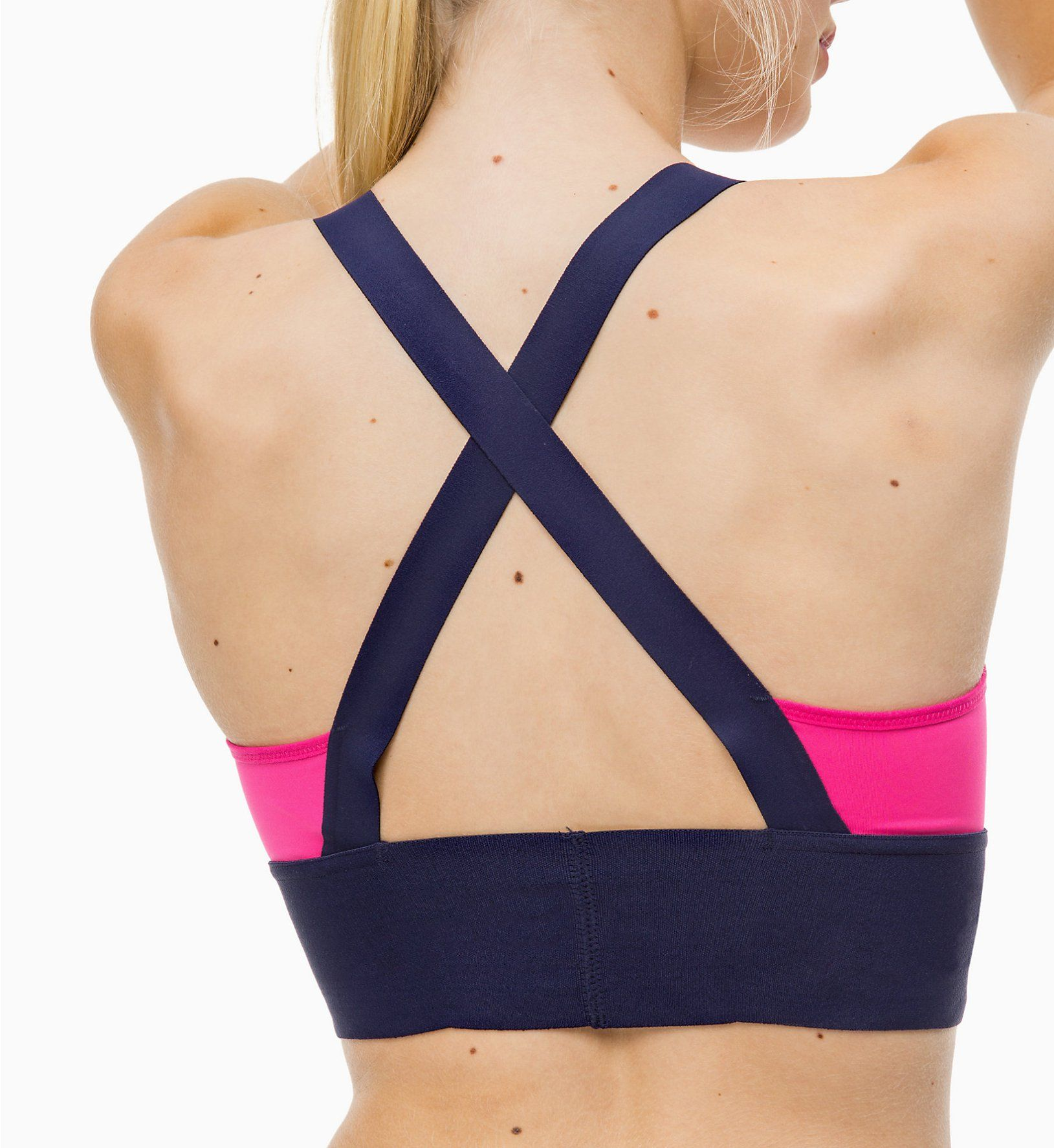 a1ded4c21b839 Calvin Klein Performance Pink Yarrow Sports Bra