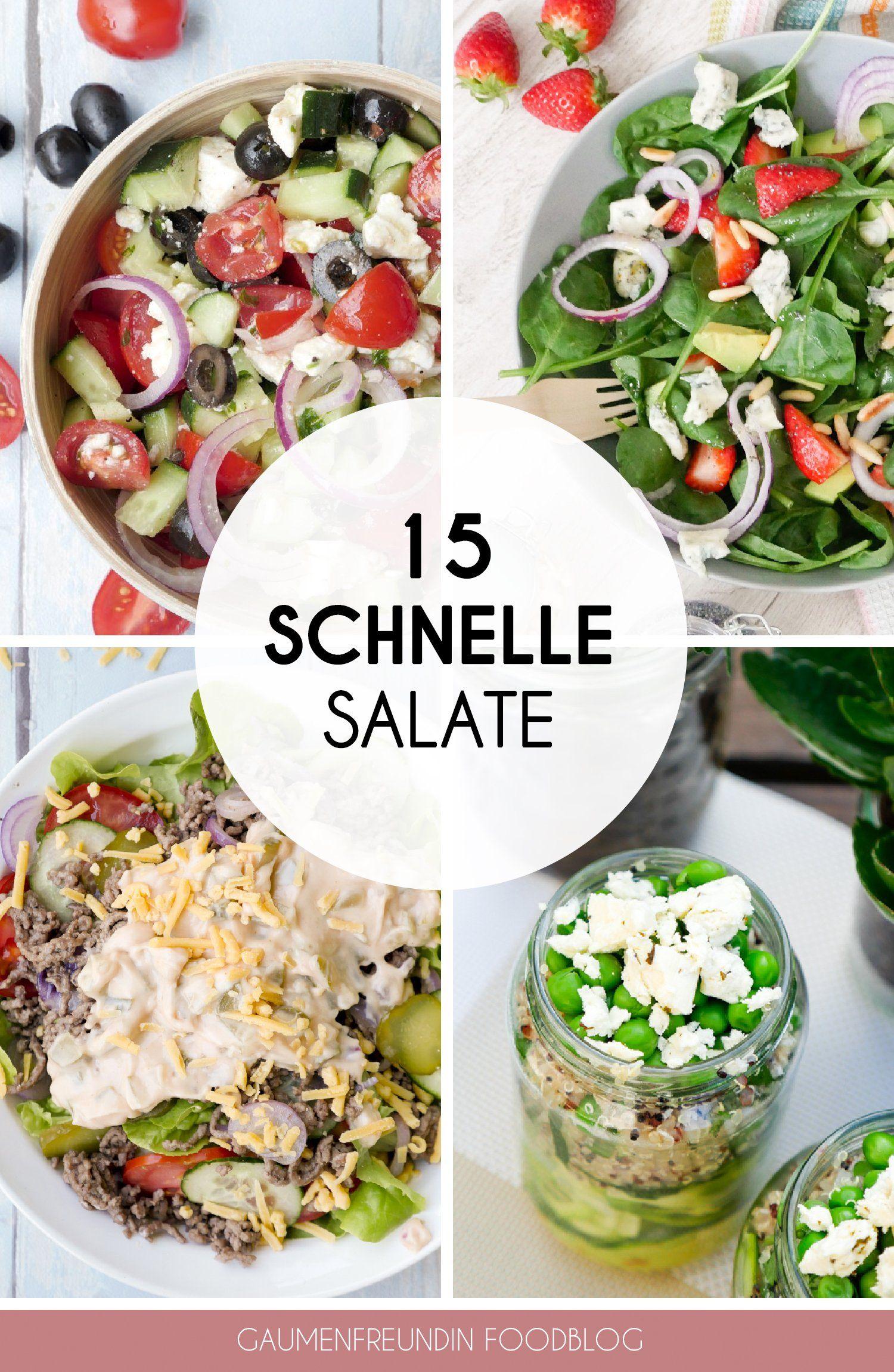 Photo of Meine 15 liebsten gesunden und schnellen Salatrezepte
