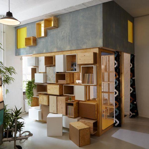 Hochetage Podest Bett Möbel Sideboard Regal Schrank in Berlin - designer mobel bucherregal