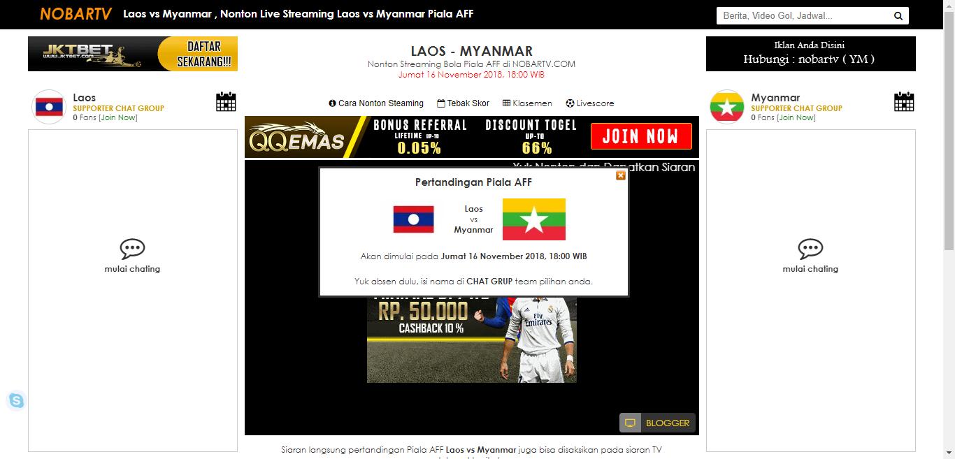 Laos vs Myanmar , Nonton Live Streaming Laos vs Myanmar