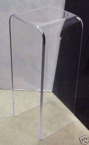 1 2 Clear Acrylic Pedestal End Table 30 High Lucite Lucite Table Lucite Furniture Clear Acrylic