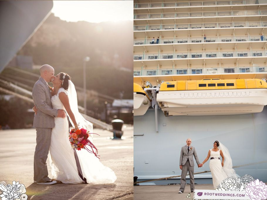 Set Up A Wedding Shoot Outside Of The Ship While In Port
