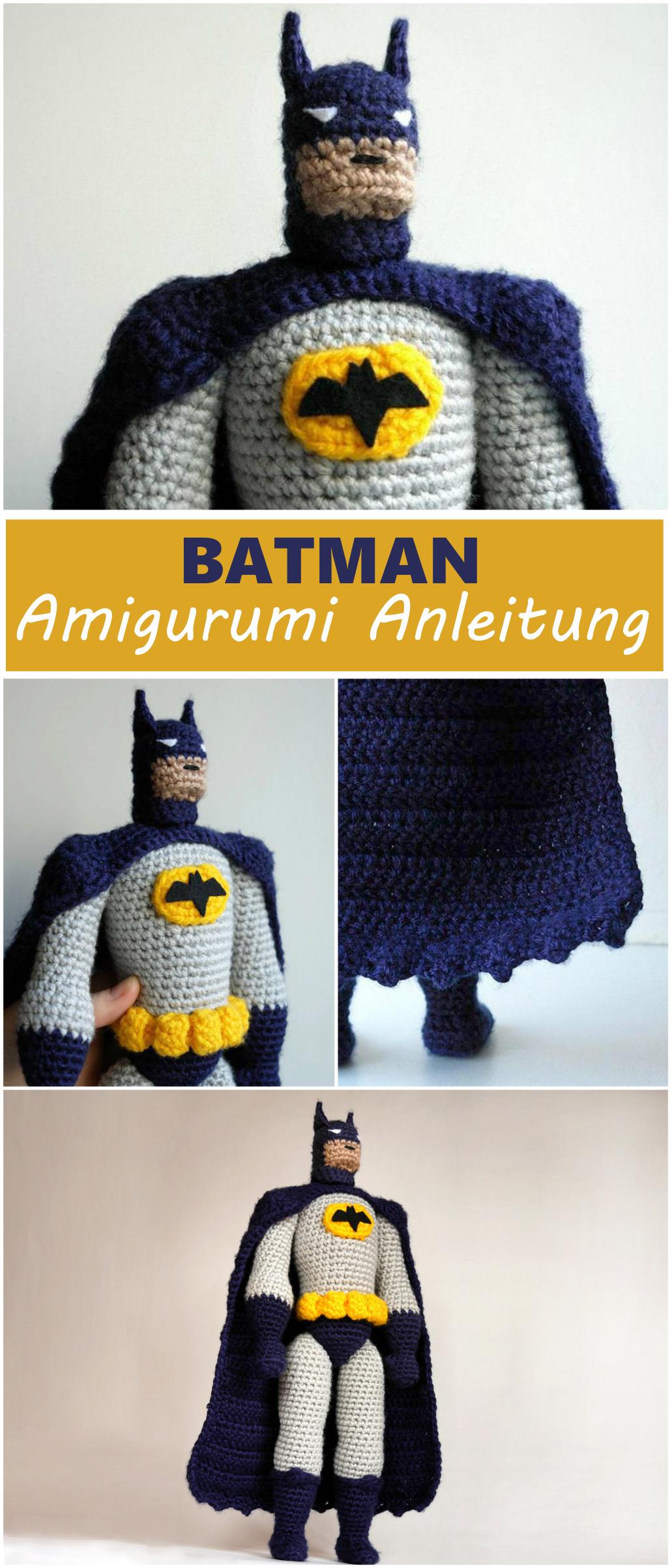 Batman Amigurumi Häkelanleitung Auf Deutsch Und Englisch