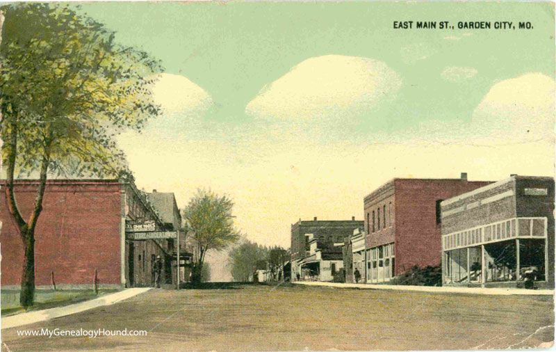 A Vintage Postcard View Of East Main Street Garden City Missouri