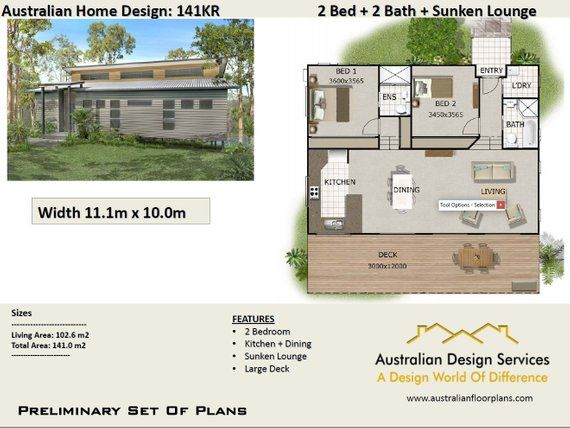 120m2 4 Bedrooms Home Plan 2 Bed 2 Bedroom Acreage Home Plans