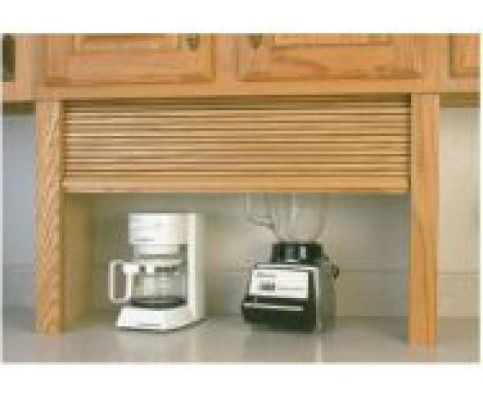 24 Wide Straight Appliance Garage Kit Alder Solid Wood