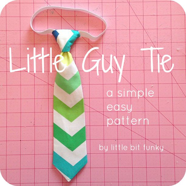 20 Minute Crafter {How to Make a Little Boy Tie} + {Simple, Easy ...