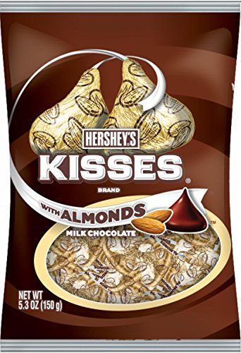 Kisses Chocolates With Almonds Gluten Free Milk Chocolate Covered