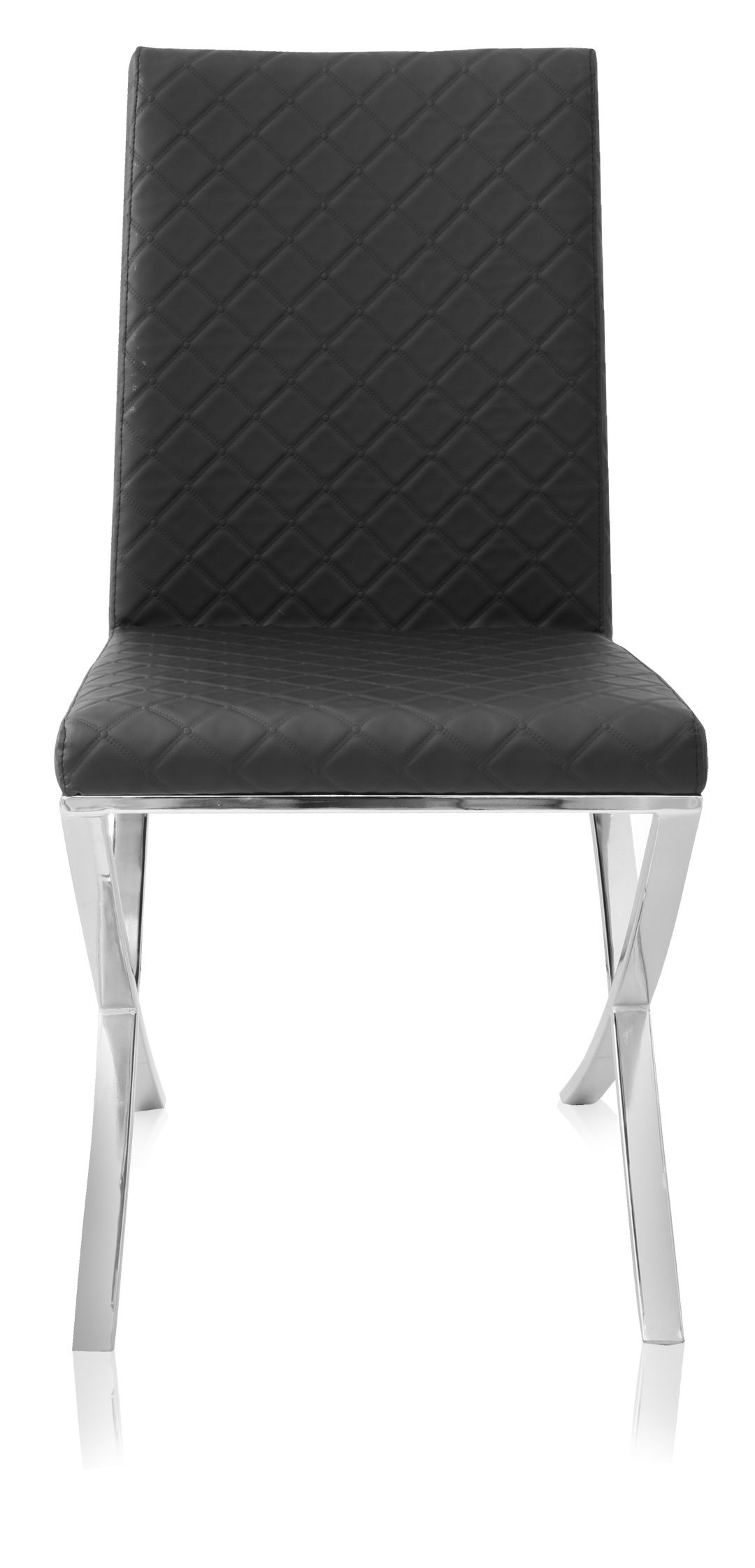 Black Quilted Celeste Modern Dining Chair Black Side Chairs