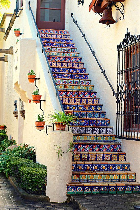Mosaic Tile Photo, Architecture Photo, McNay Museu