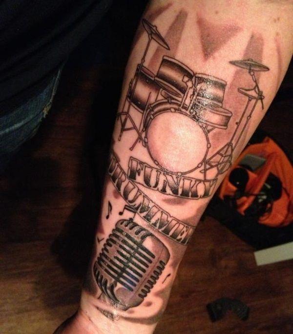 22 Rockin Drummer Tattoo Designs Drummer Tattoo Drum Tattoo Tattoos